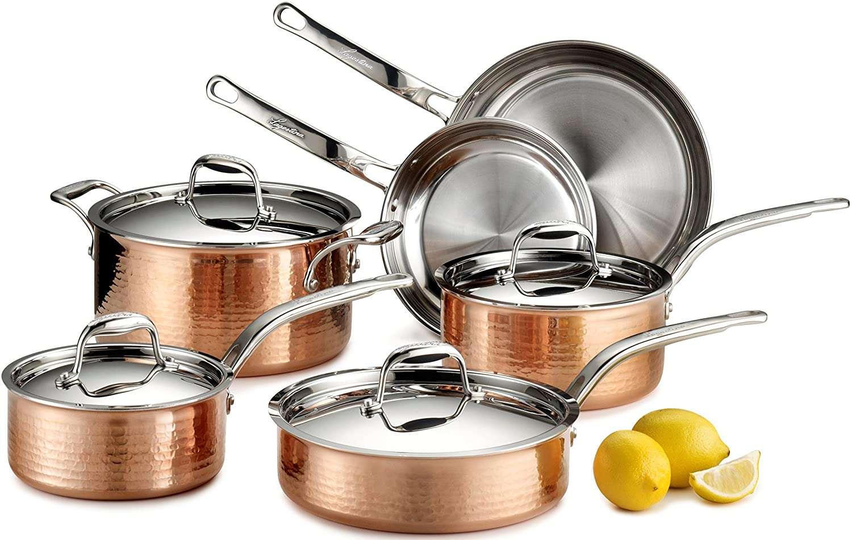 lagostina-martella-hammered-copper-cookware-set