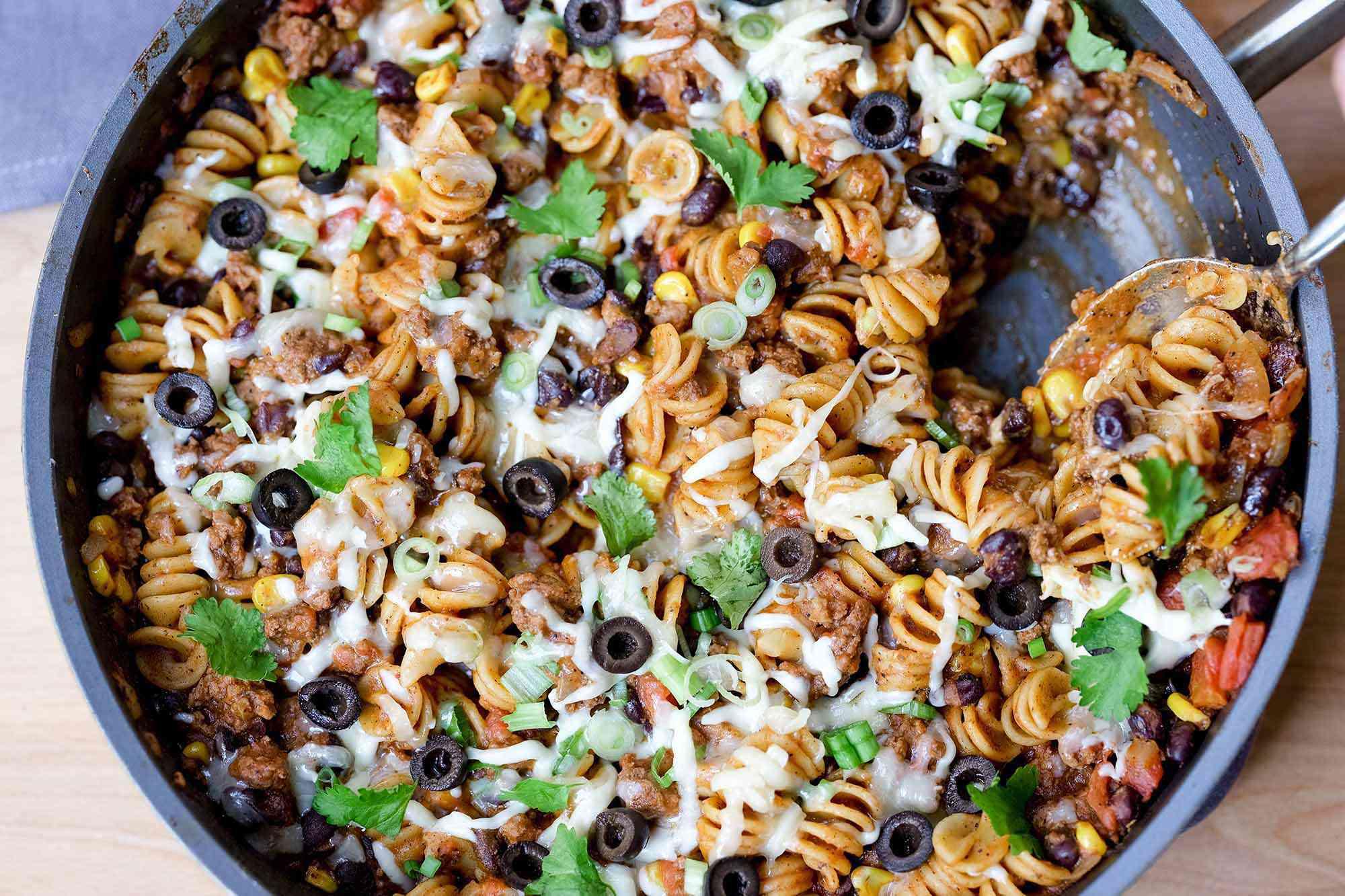 Taco Pasta Skillet Recipe