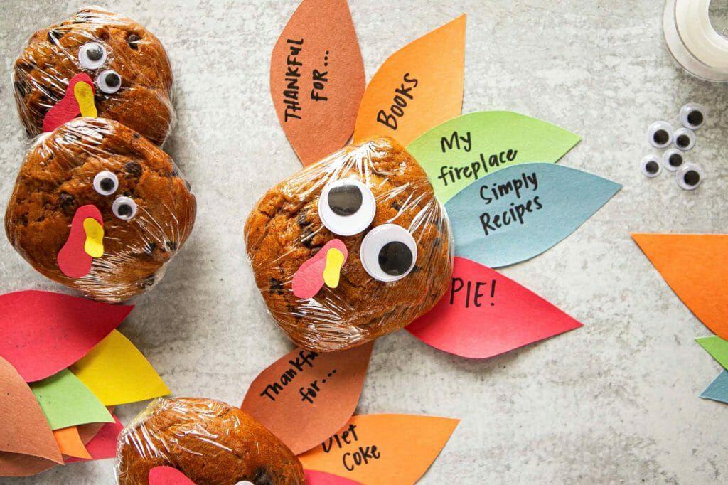 Send Thanksgiving Cookie Turkey kits as a Long-distance Thanksgiving idea.