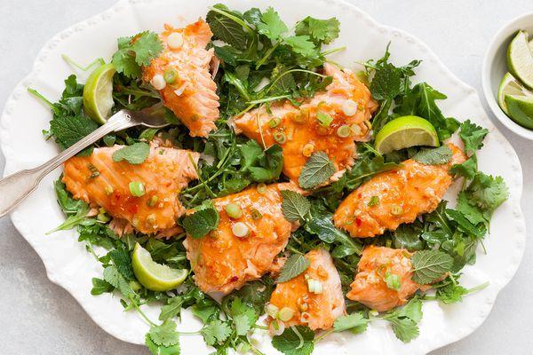 Slow-Roasted Salmon with Sweet Chili Glaze