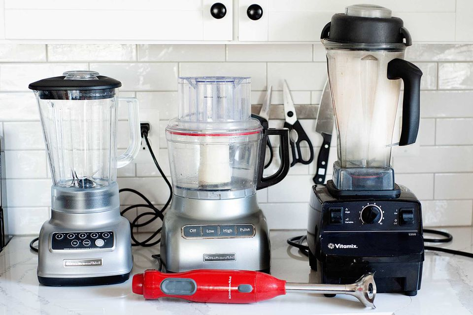 Countertop blender vs food processors vs immersion blender