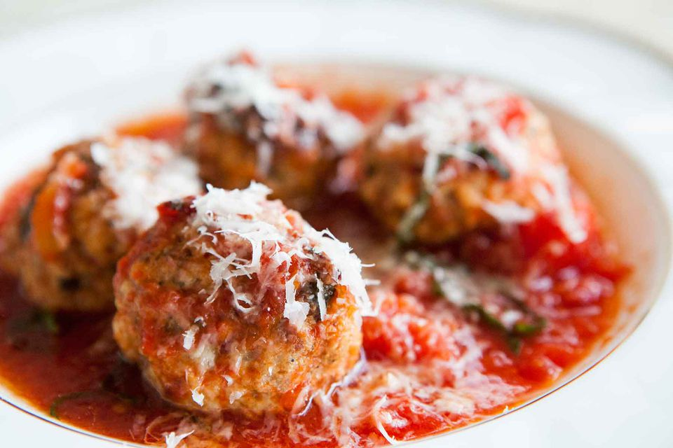 Meatballs with Ricotta in Tomato Sauce