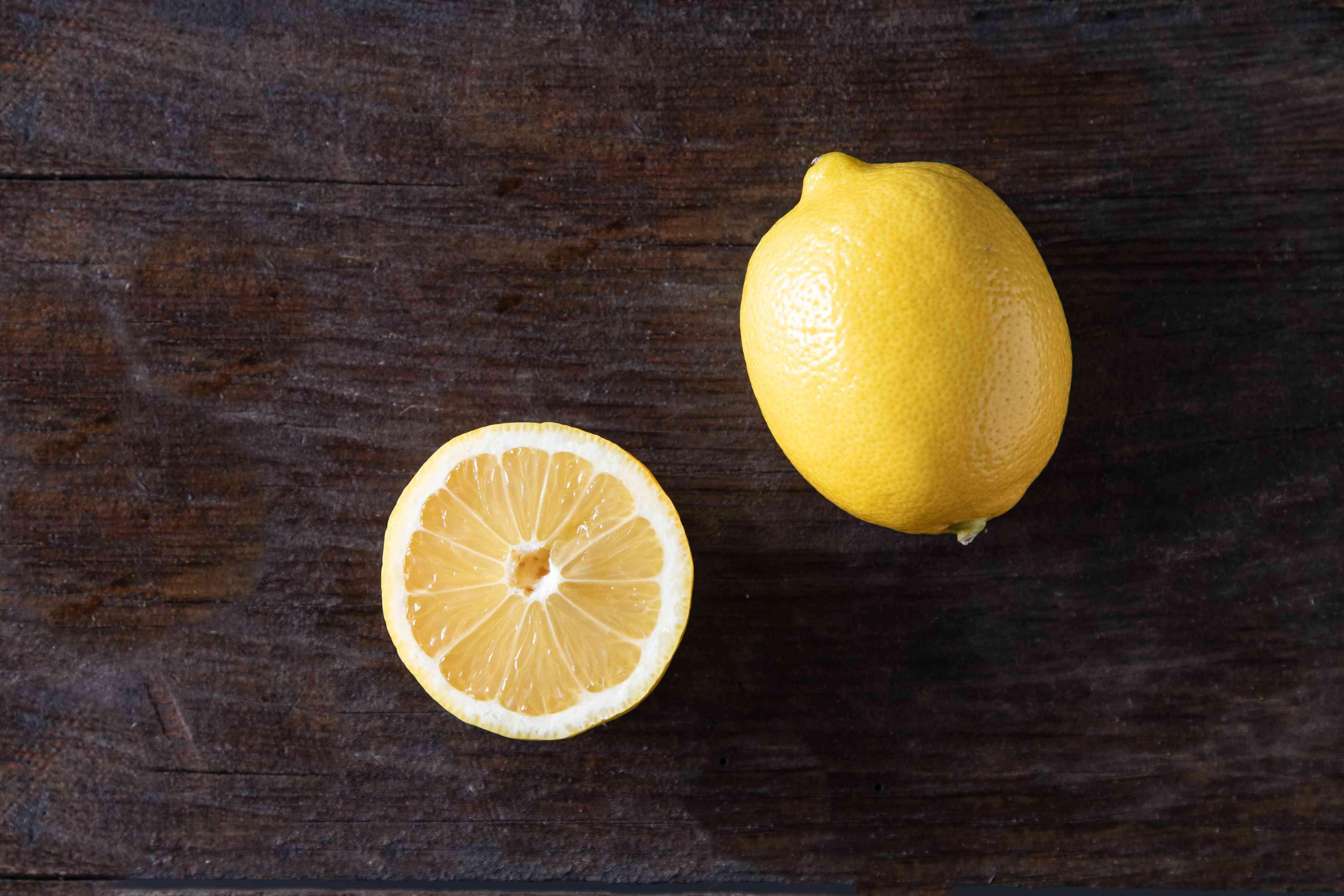 Eureka lemon on dark background