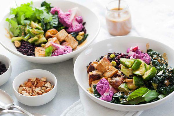 Tofu and Veggie in Rice Bowl