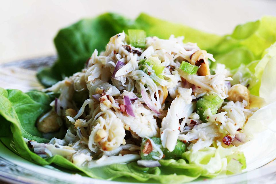 Crab Salad with Pears and Hazelnuts