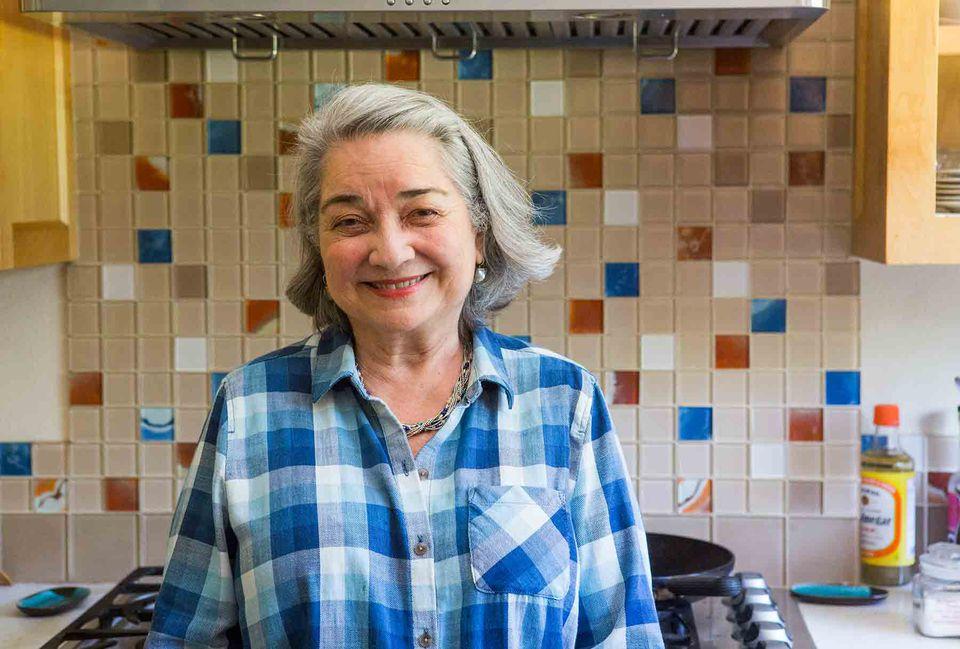 Alice Bauer in her kitchen