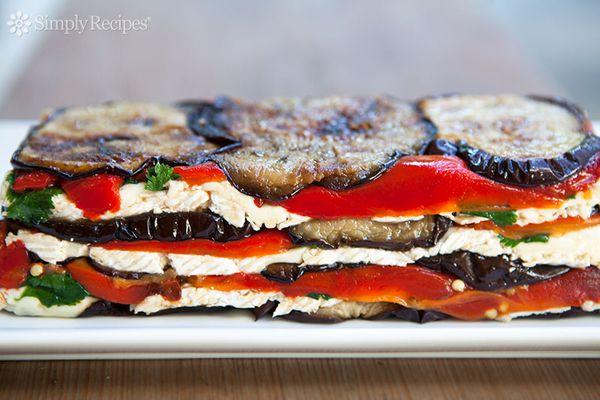 Eggplant Red Bell Pepper Terrine