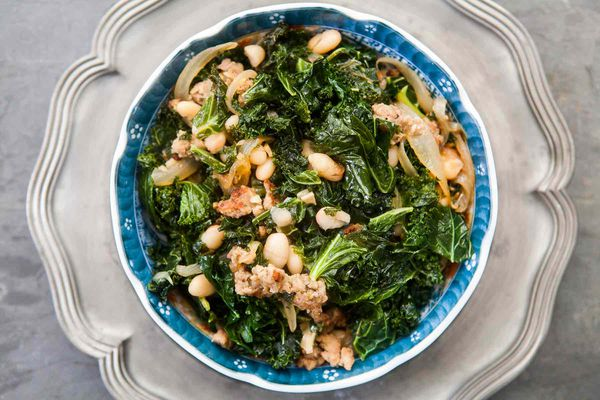 Kale, Sausage, and White Beans