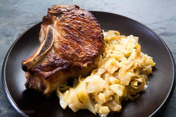Pork Chops Braised Cabbage