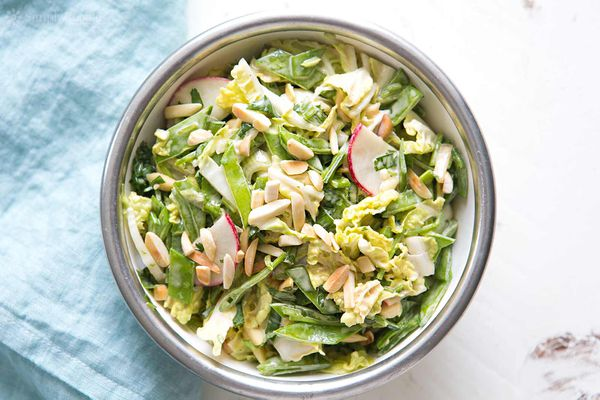 chinese cabbage salad in bowl