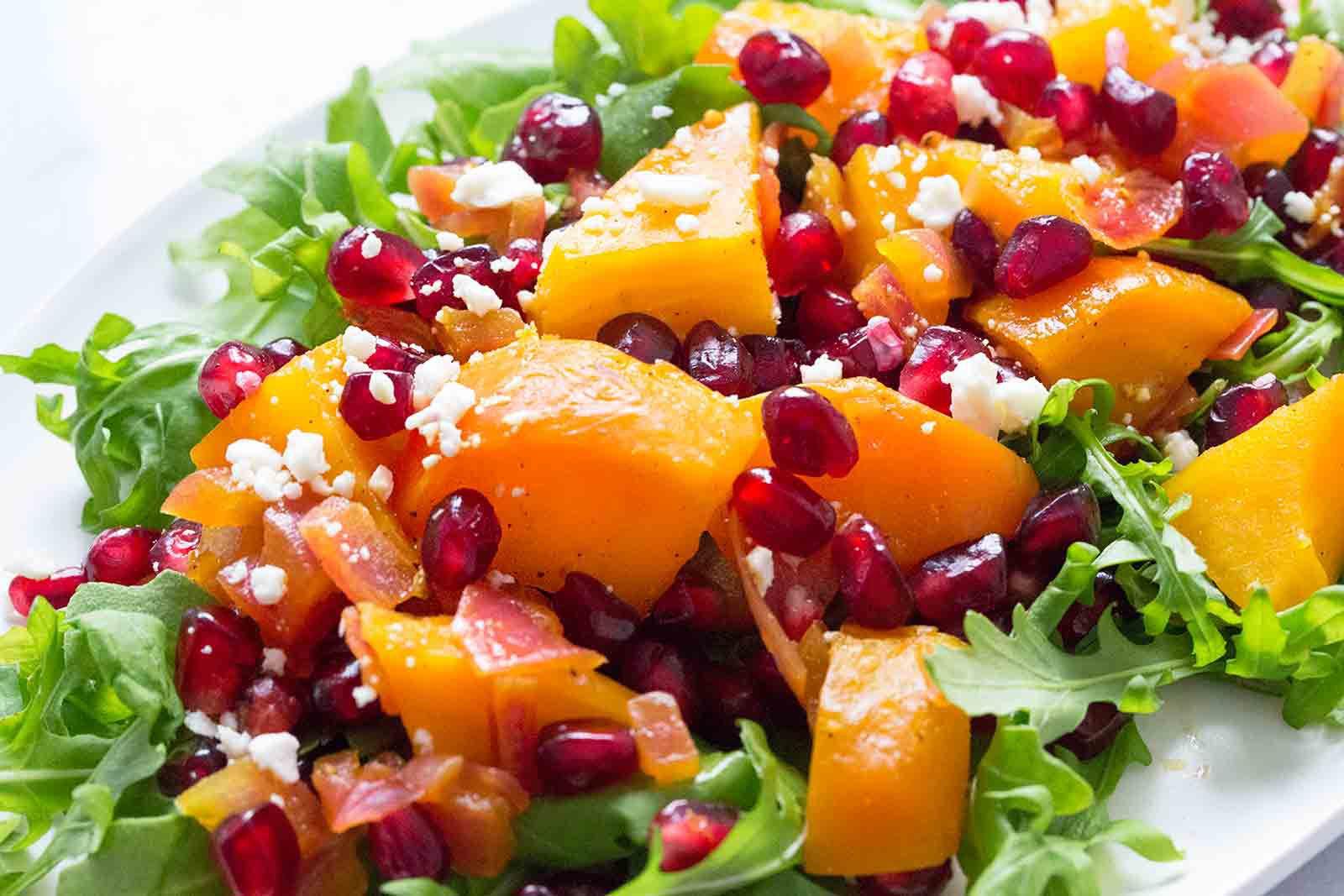 Golden Beet Pomegranate Salad
