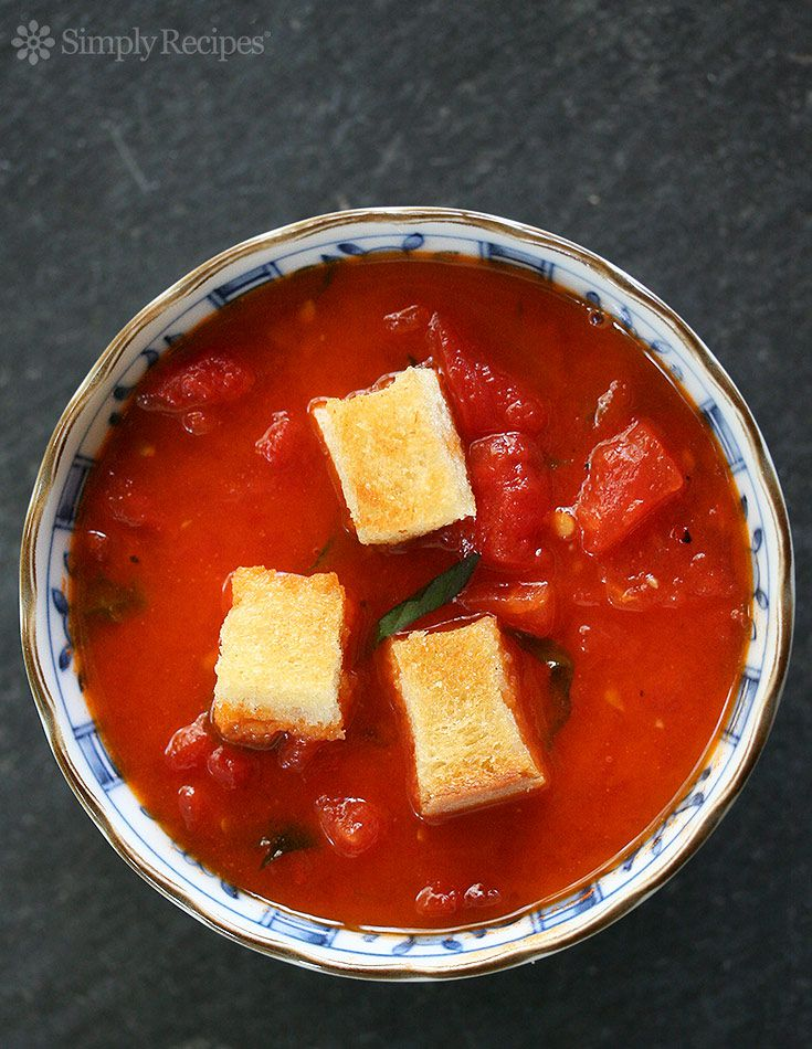Stewed Tomatoes with Croutons