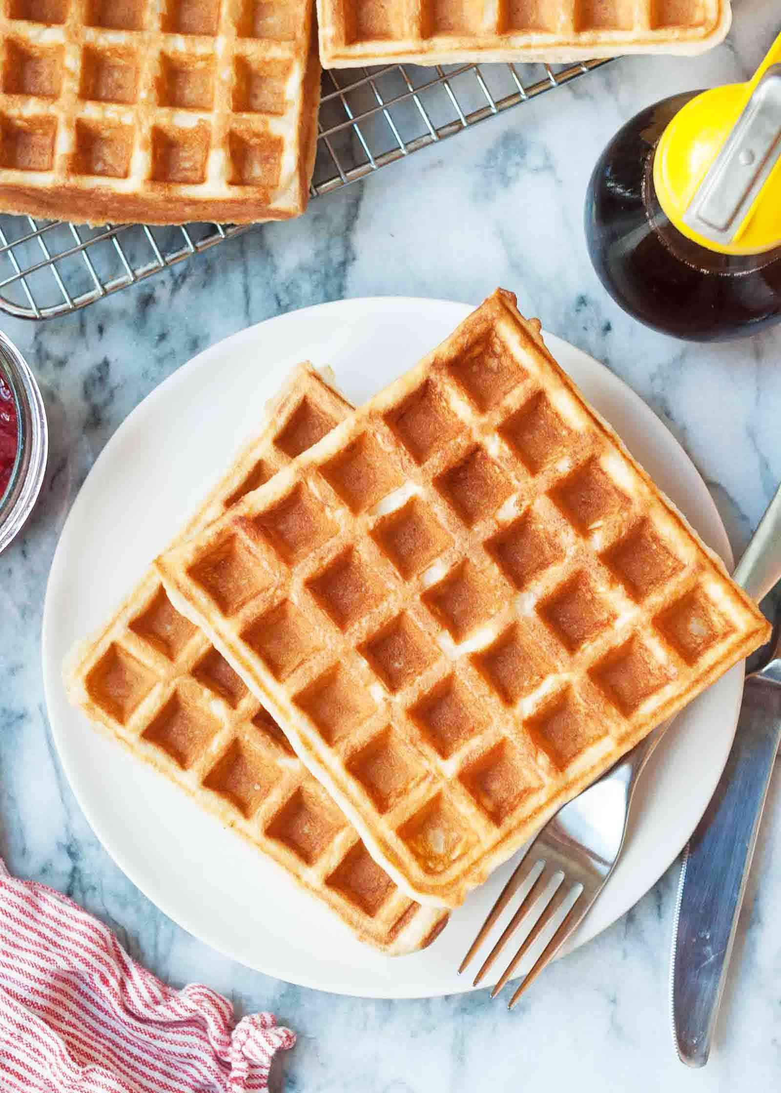 Buttermilk Waffle Recipe that makes crispy waffles