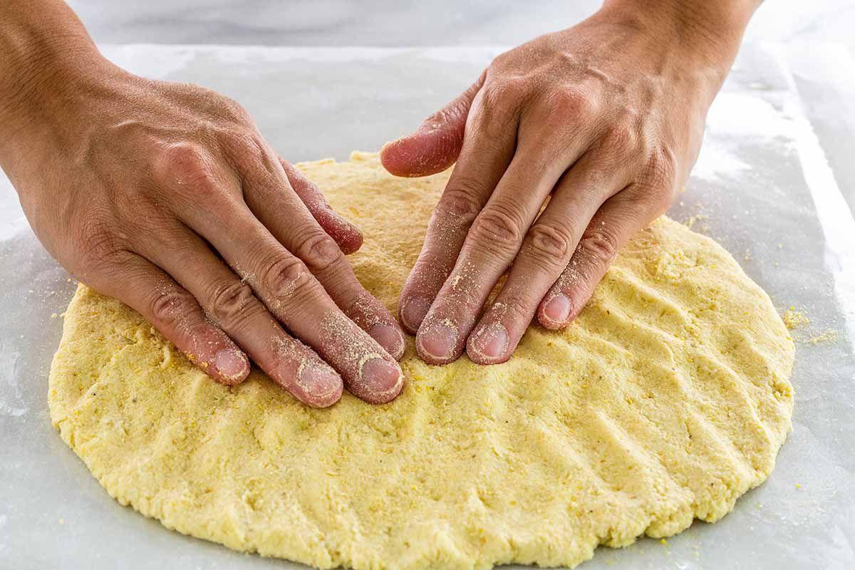 Cauliflower Pizza Crust Recipe shape the crust