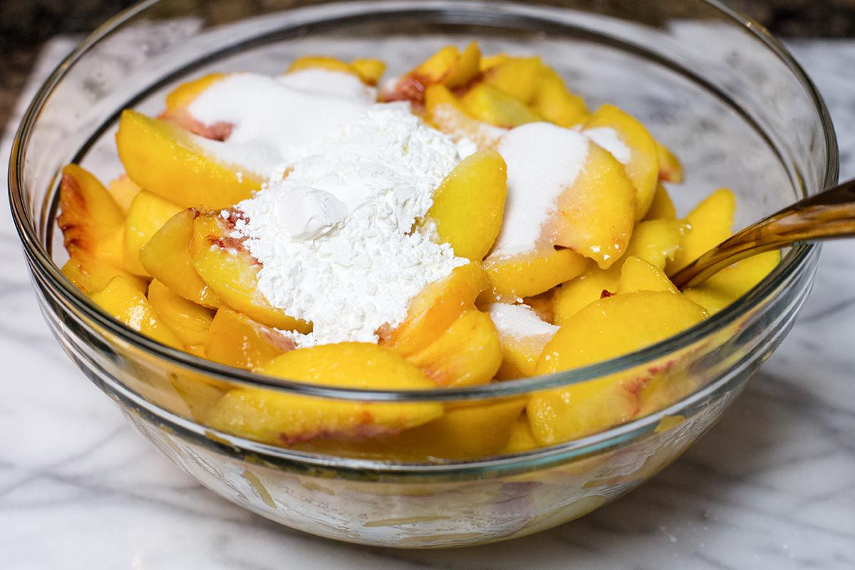 Best peach pie filling with cornstarch and sugar