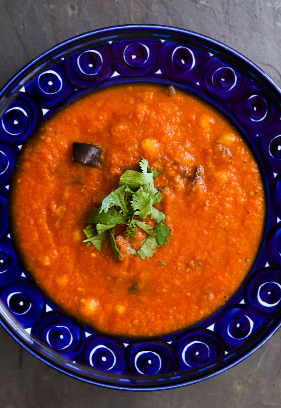Roasted Eggplant Tomato Soup