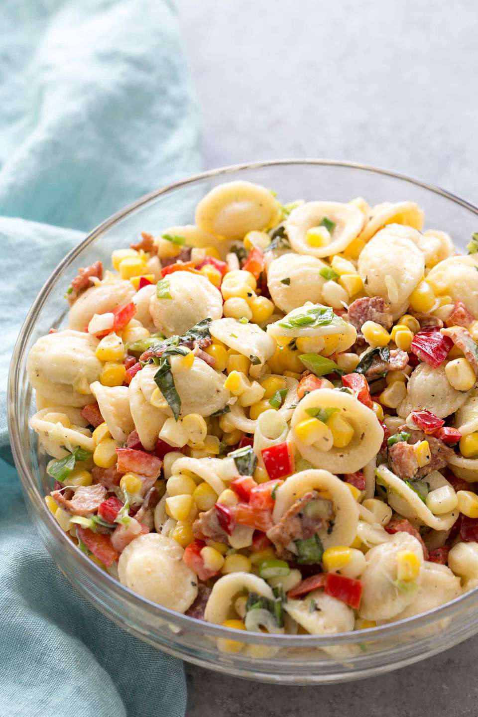 Pasta Salad with Corn and Bacon