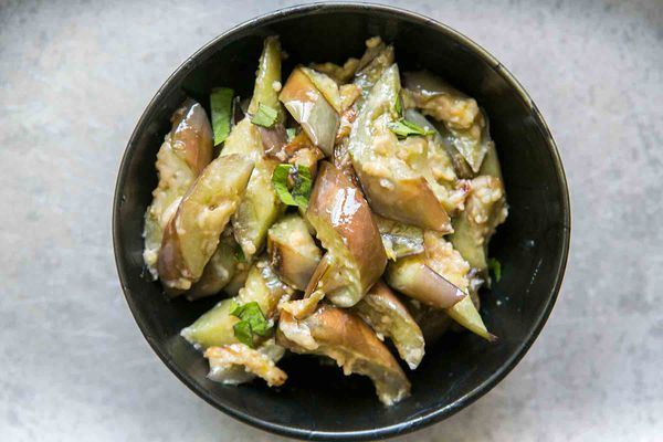 Japanese Eggplant with Ginger and Miso