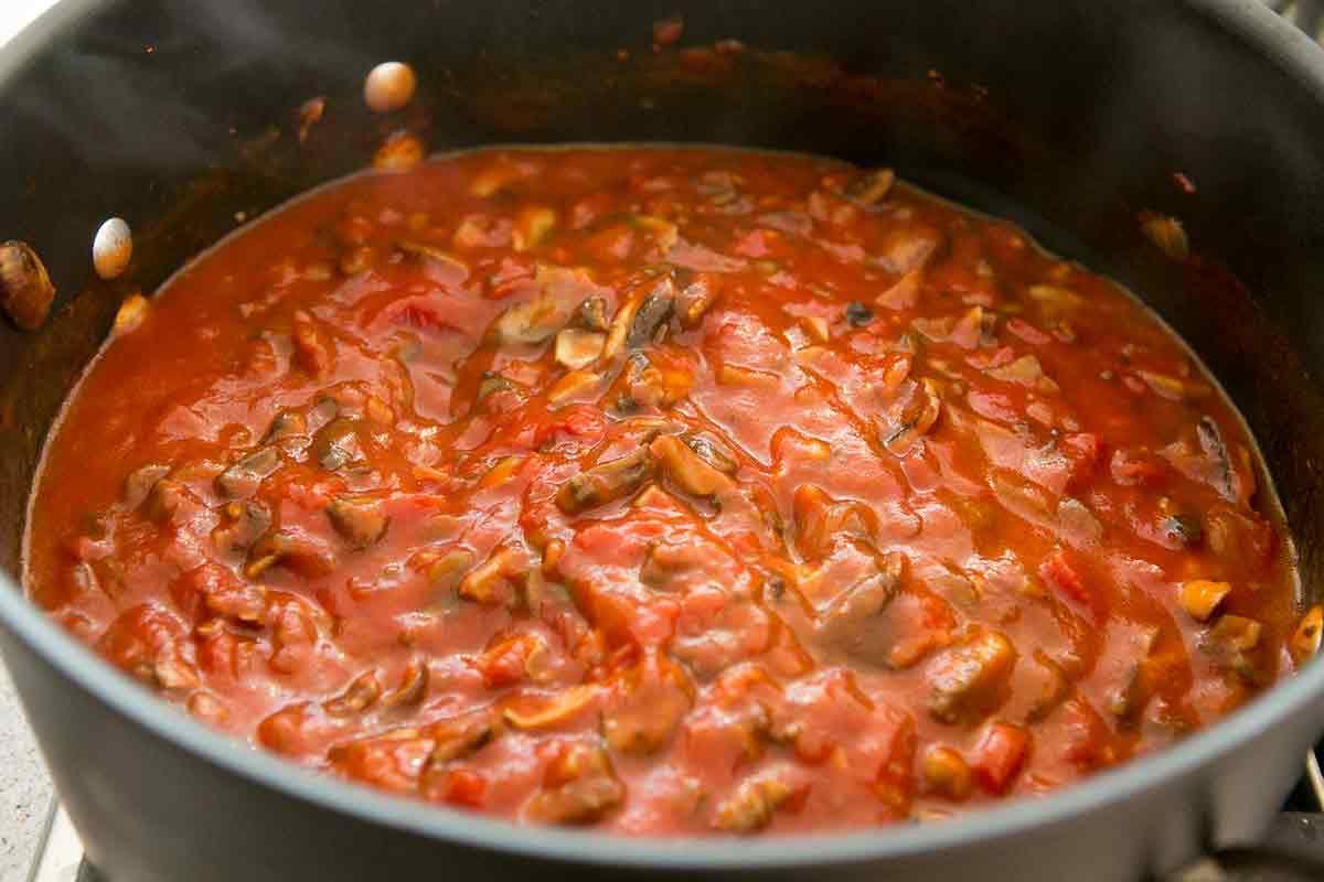 Veggie lasagna - sauce mix for Vegetable Lasagna