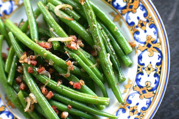 Green Beans with Shallots and Pancetta