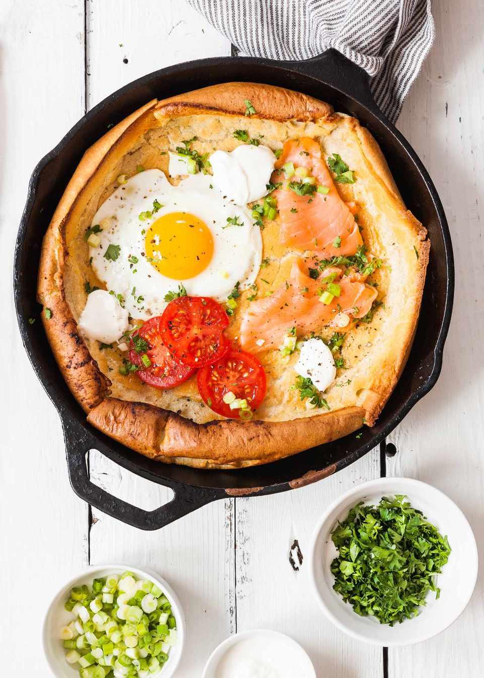 German Dutch Baby Pancake with Whole Wheat Flour