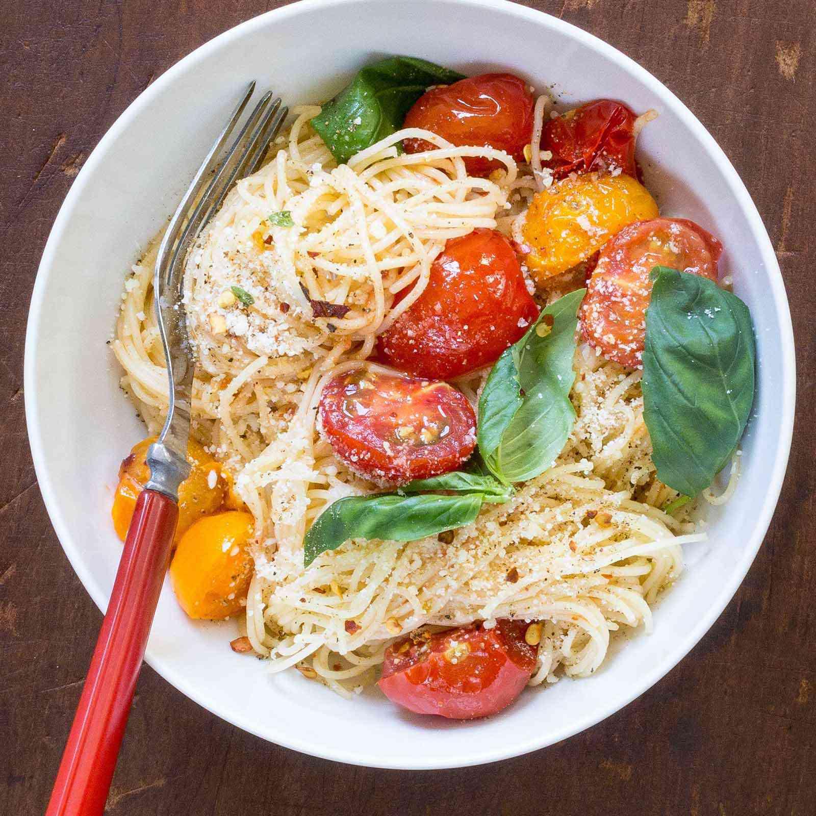 Angel Hair Pasta with Quick Cherry Tomato Sauce