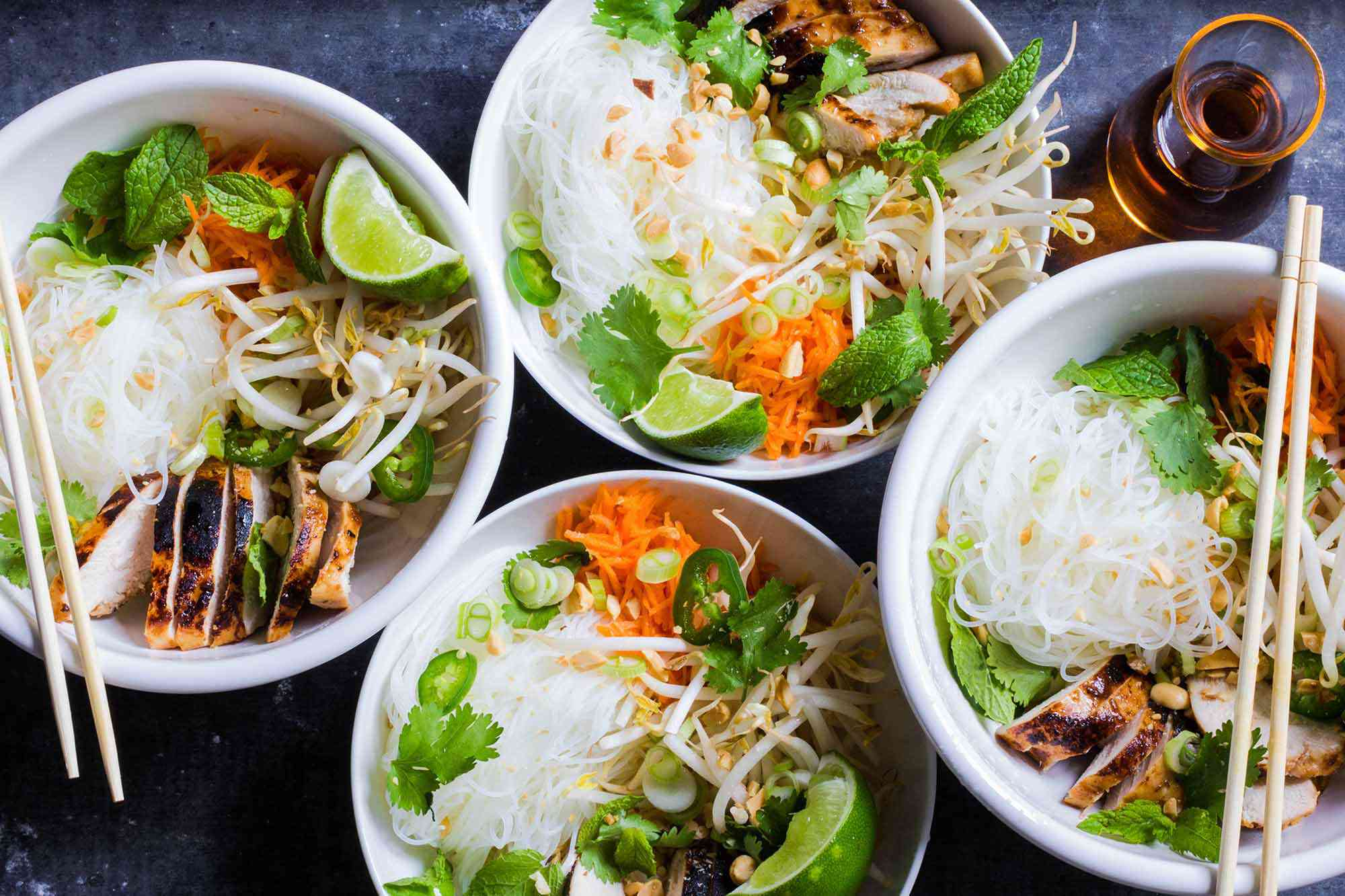 Vietnamese Noodle Bowls with Chicken