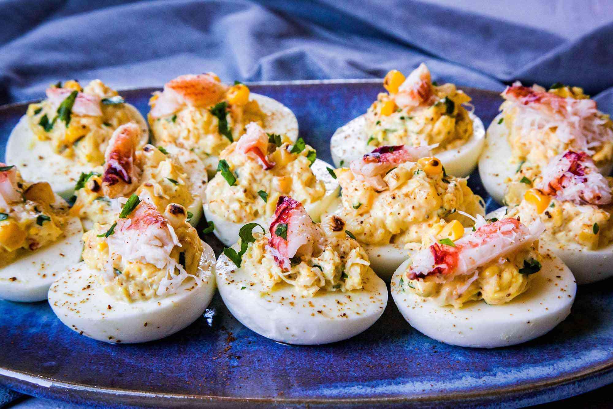 Crab Deviled Eggs Old Bay
