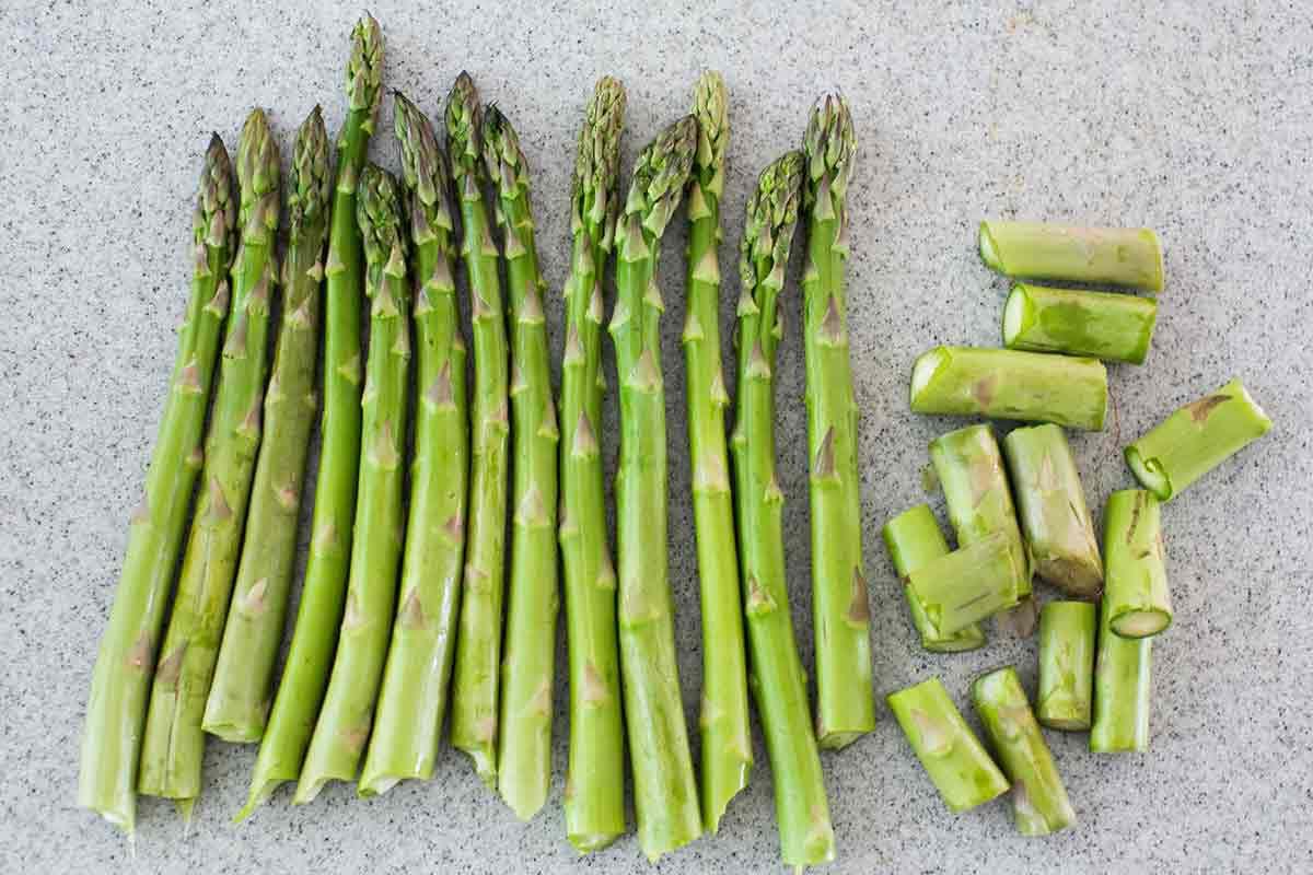 Lined Asparagus Spears for Roasted Asparagus