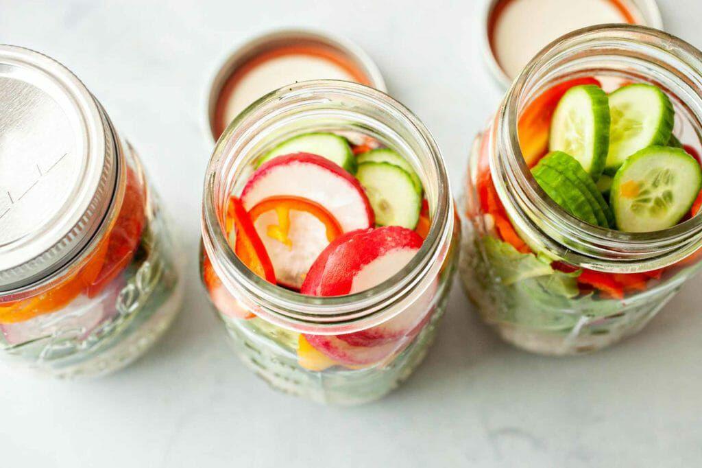 Is Barley Gluten-Free? three jars with vegetables