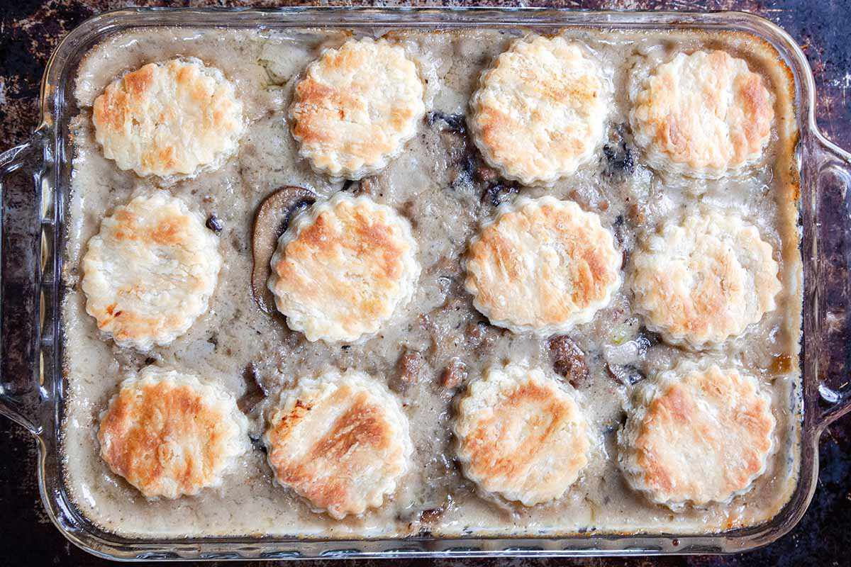 Biscuits and Gravy Bake bake the casserole