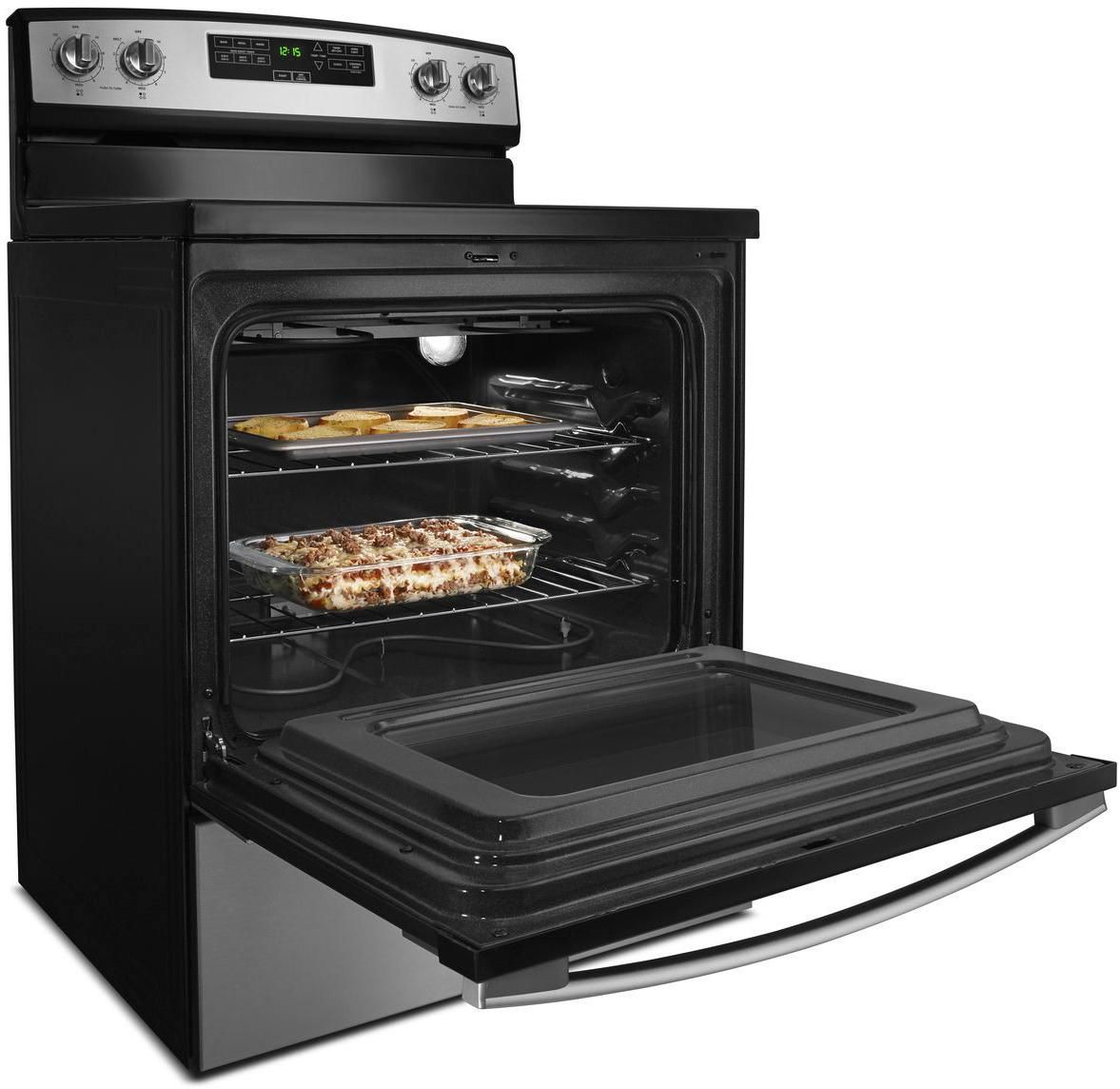 Amana - 4.8 Cu. Ft. Freestanding Electric Range - Stainless steel