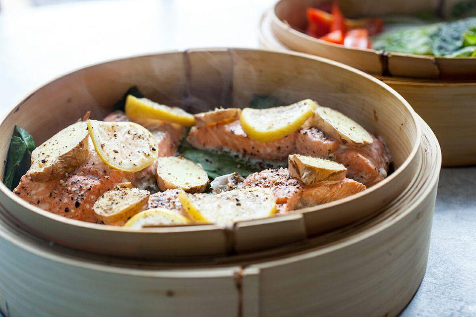 Steamed Salmon recipe remove the salmon