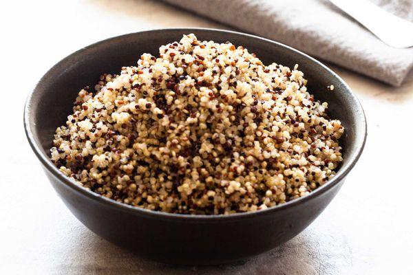 Fluffy quinoa in a bowl.