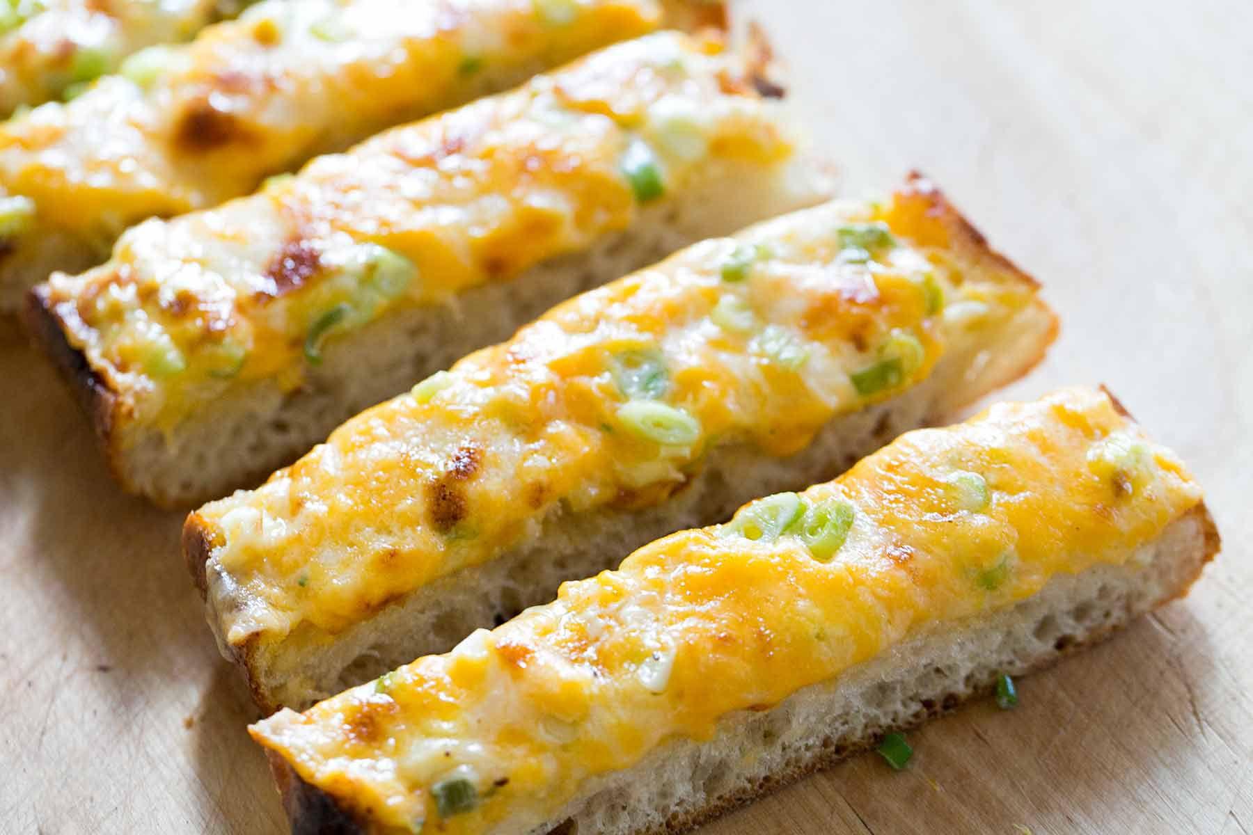 Cheesy Bread cut into slices