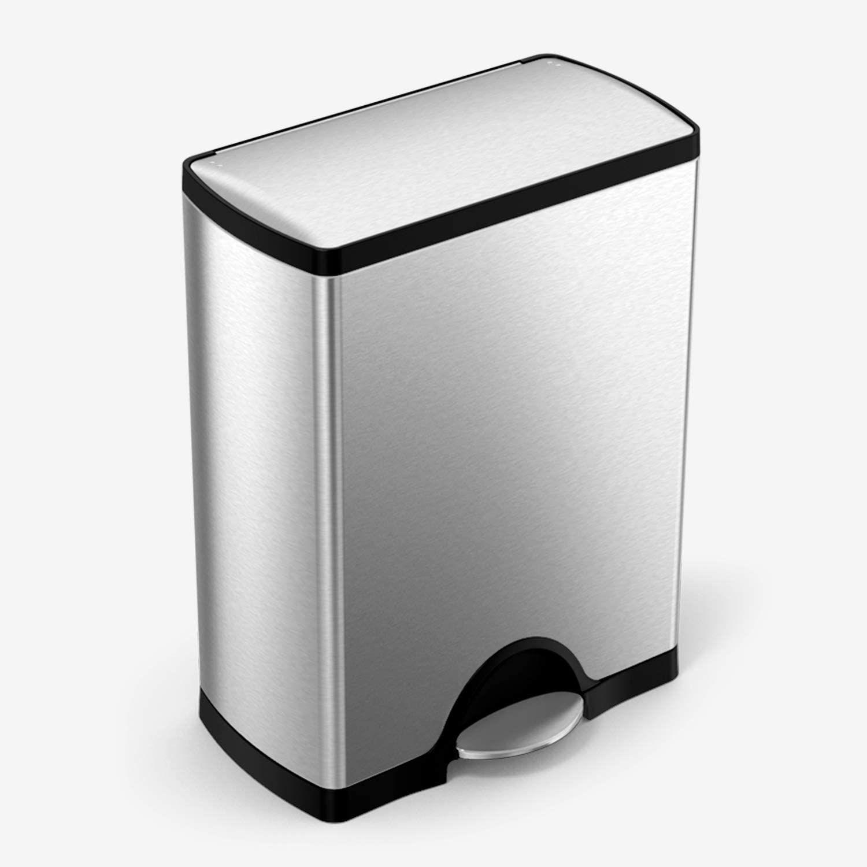 simplehuman 50 Liter / 13.2 Gallon Rectangular Kitchen Step Trash Can
