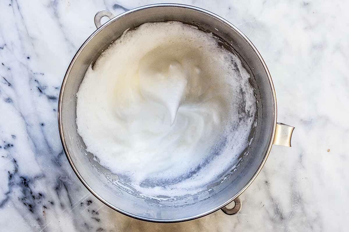 Recipe for Lemon Ricotta Pancakes whip the egg whites