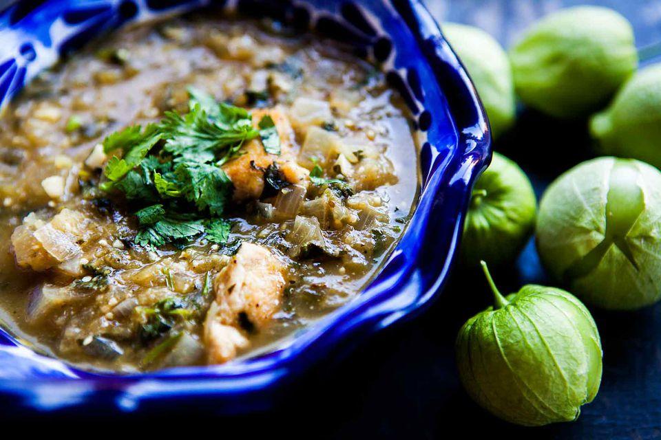 Tomatillo Chicken Stew