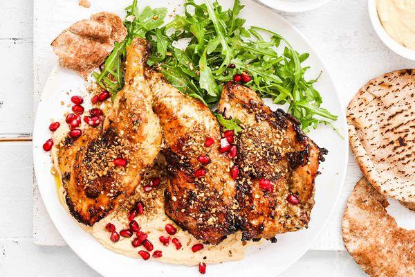 Grilled Chicken with Dukkah