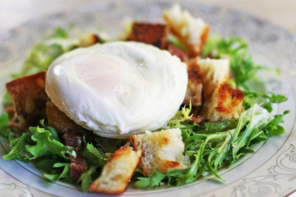 Poached Egg Bacon Salad Lyonnaise