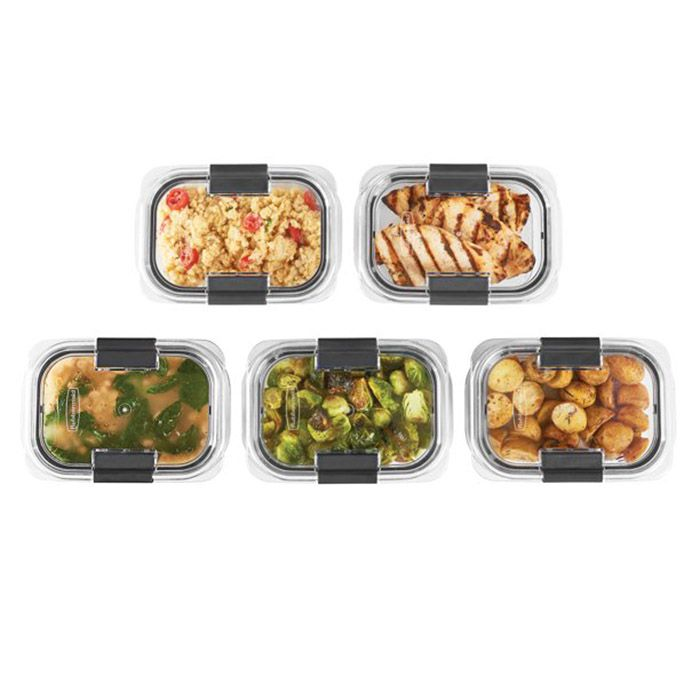 Rubbermaid Brilliance 3.2-Cup Food Storage Container, 5-Pack