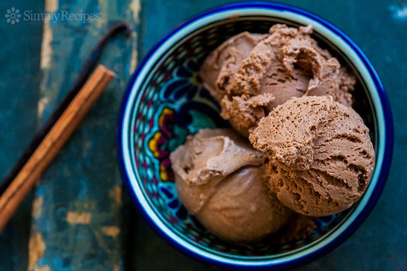 Scoops of Mexican Ice Cream in dessert bowl