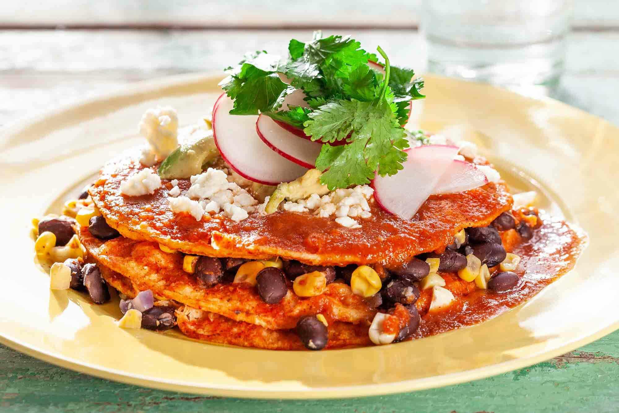 Vegetarian Stacked Enchiladas
