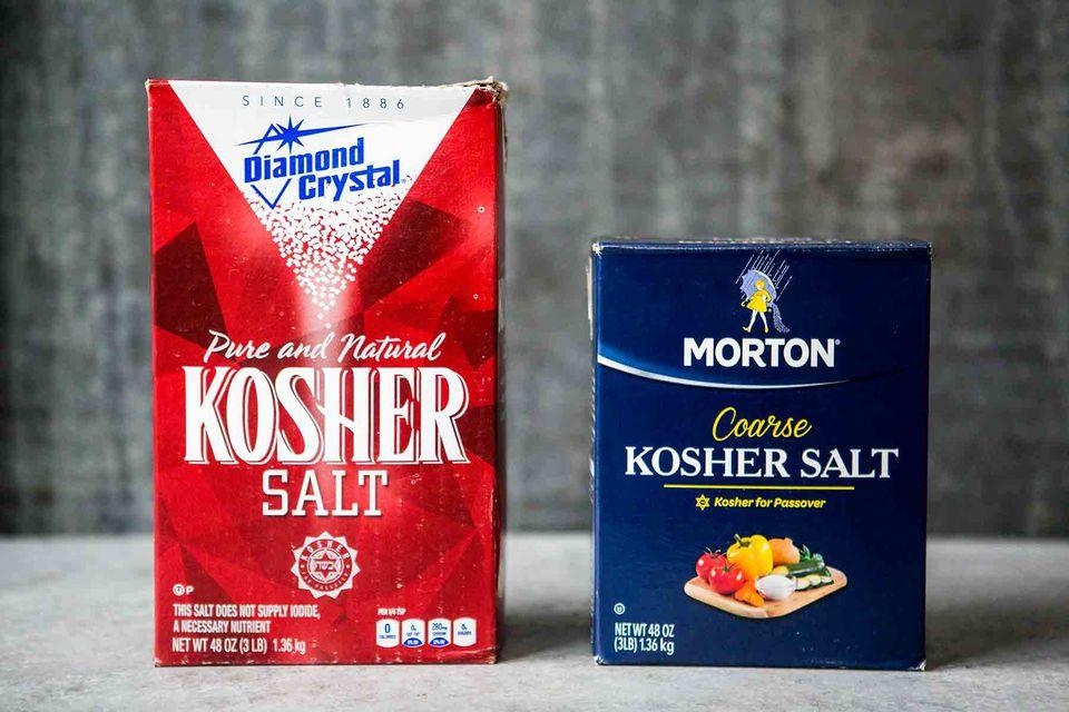 Diamond Crystal and Morton Kosher Salt