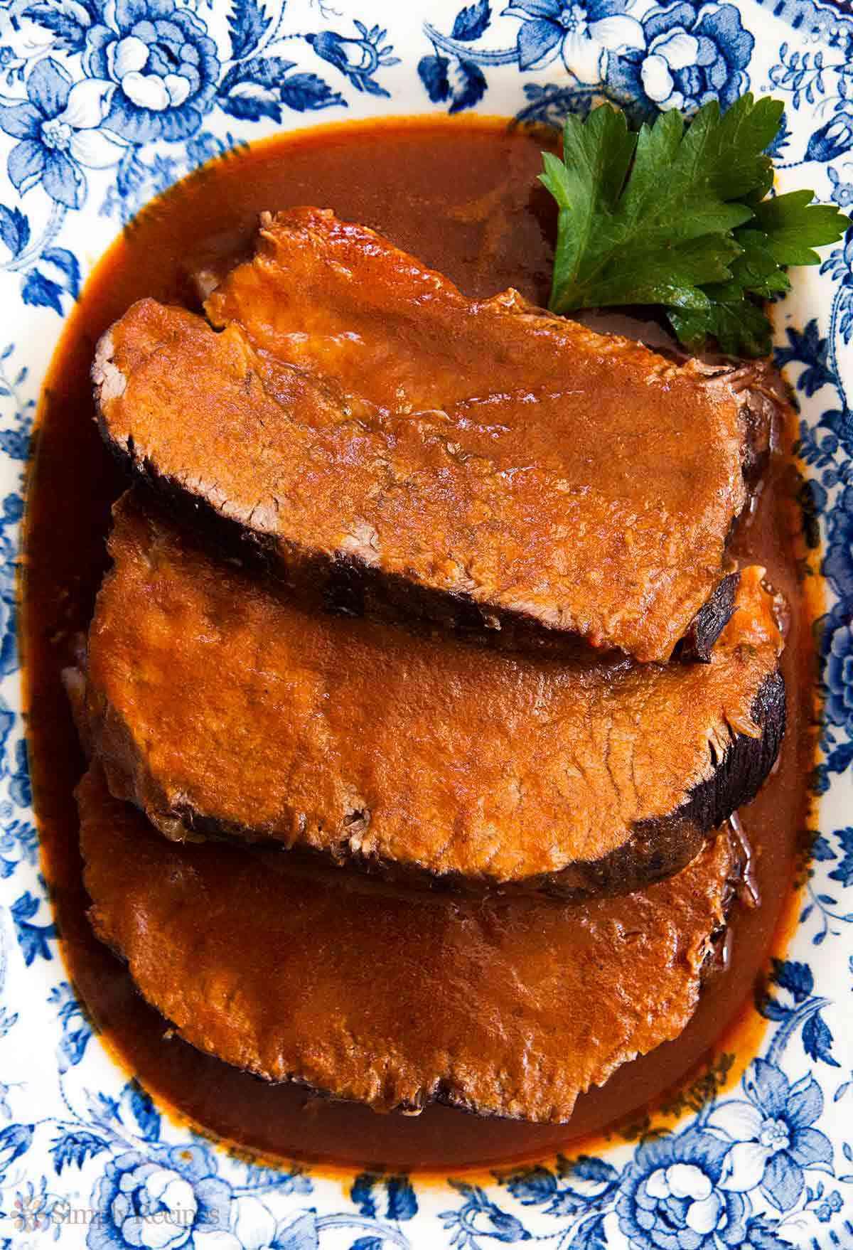 Beef Roast Braised in Red Wine