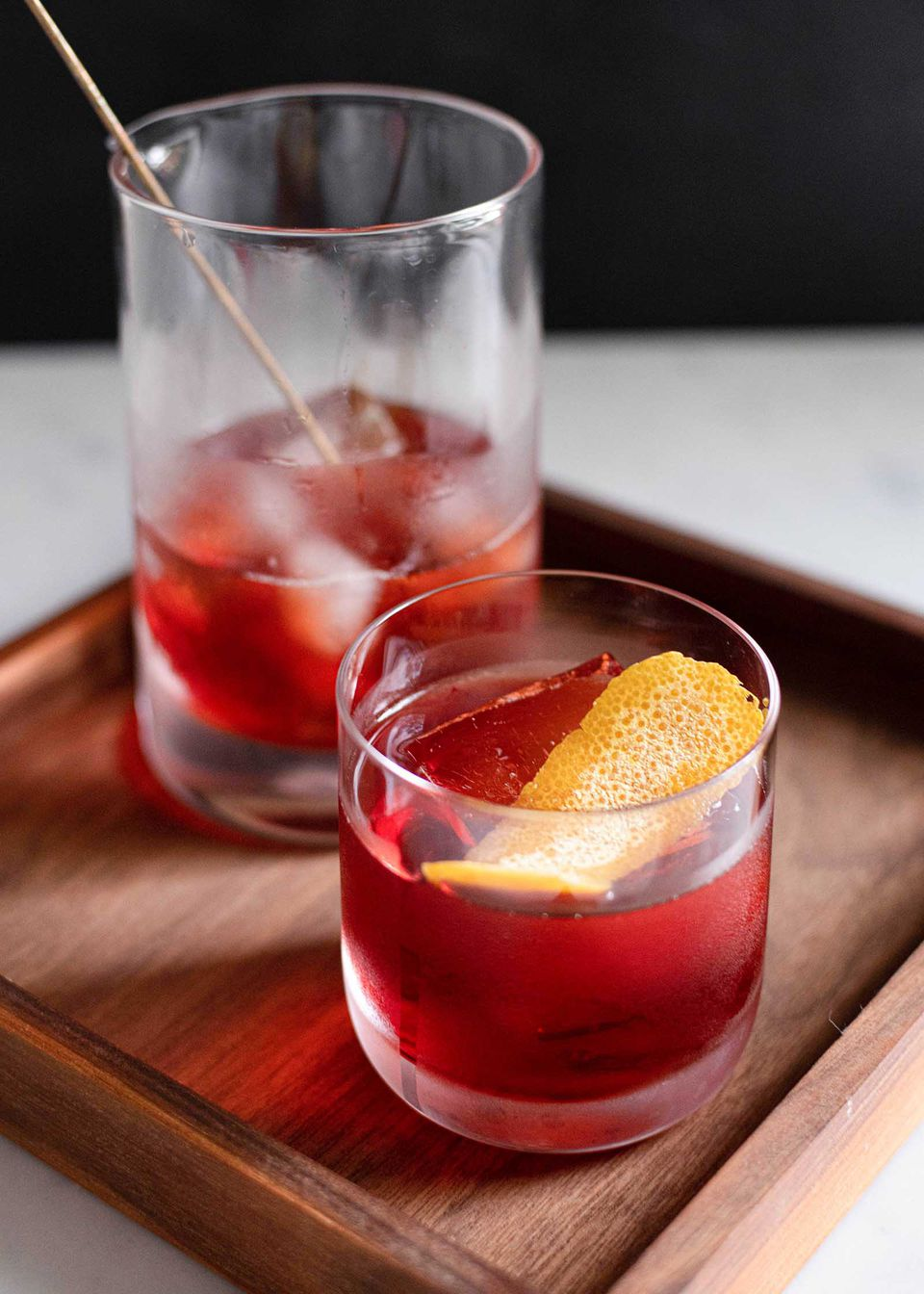A boulevardier cocktail is a negroni with whiskey instead of gin