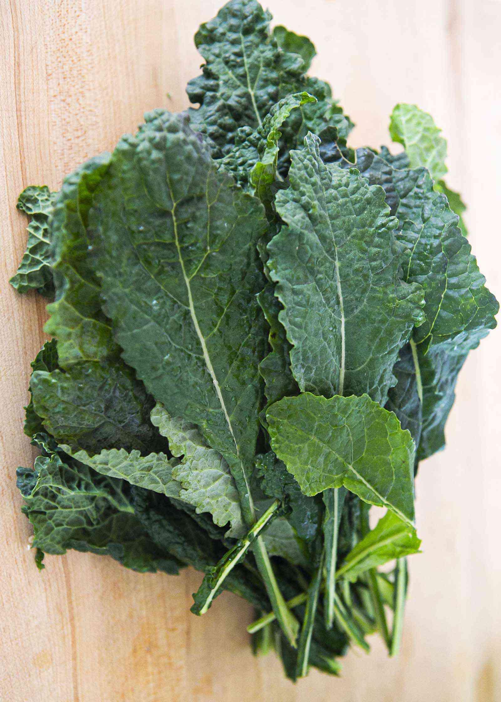 Kale for making easy kale salad