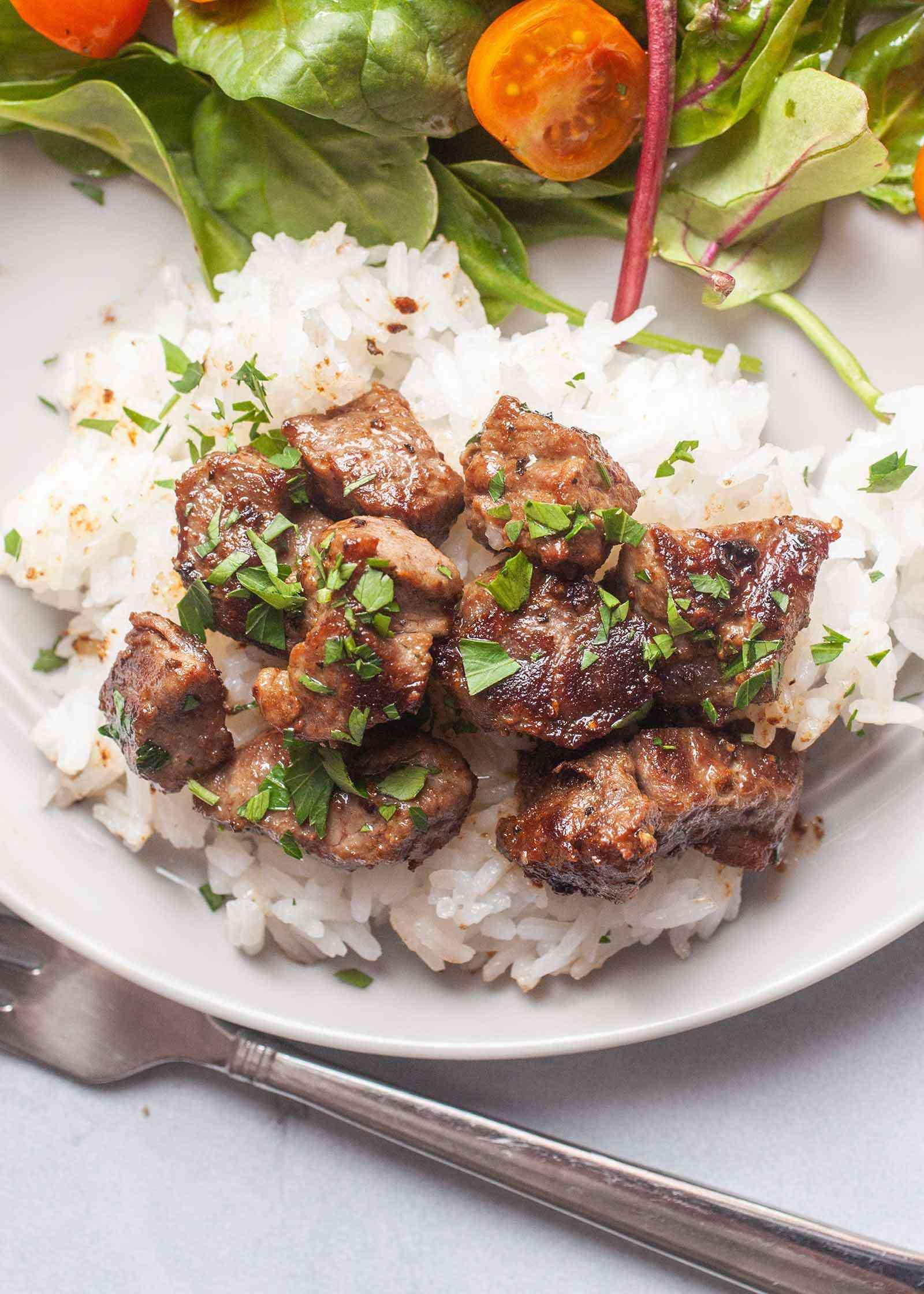 Beef Cube Recipe with Garlic
