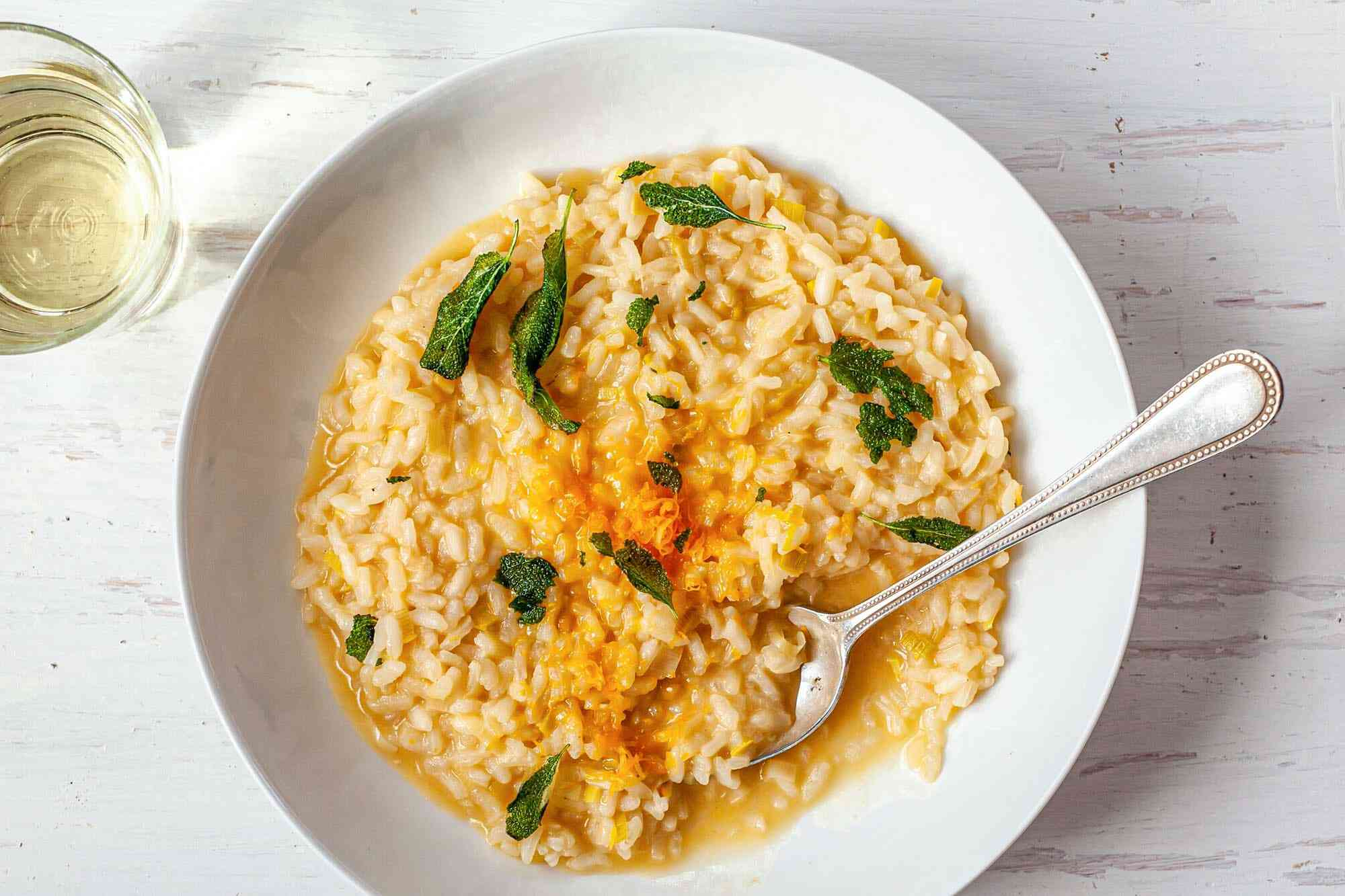 Cheesy Risotto with Leeks