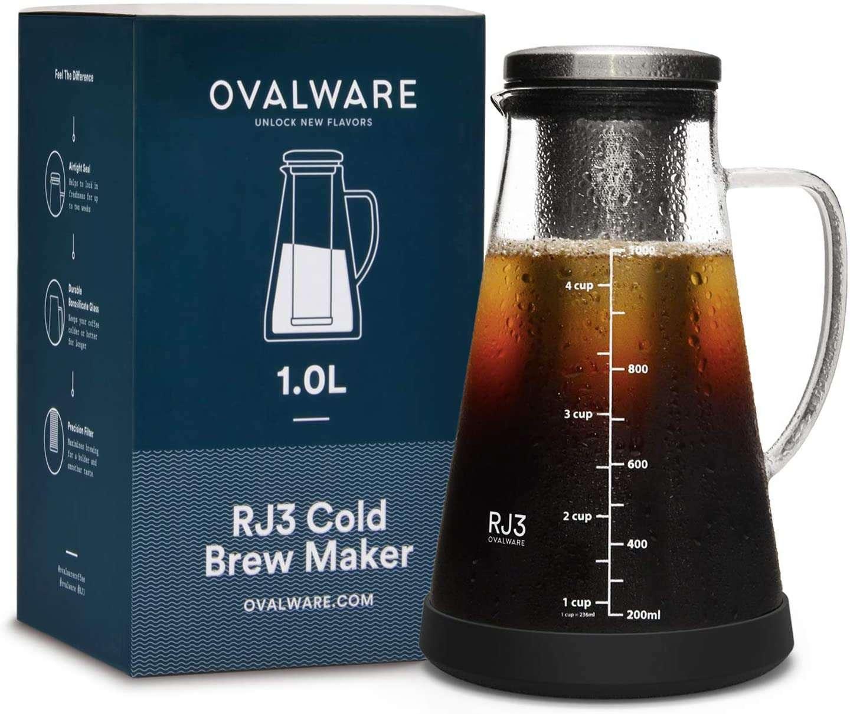Ovalware Cold Brew Maker and Tea Infuser